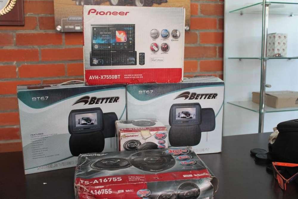RADIO PIONEER AVHX7550BT EXCELENTE , pantallas better y parlantes Pioneer