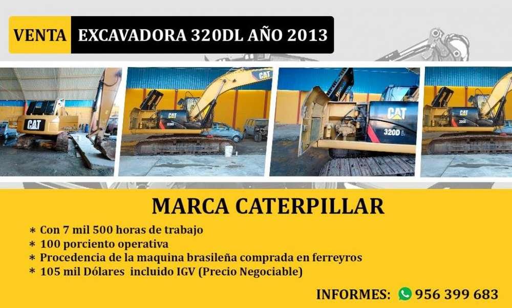 Excavadora 320DL año 2013 venta Incluido IGV