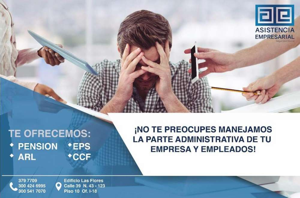 AFILIACIÓN EPS Y ARL *SANTA MARTA* INMEDIATO LLAMAR 300 541 7070