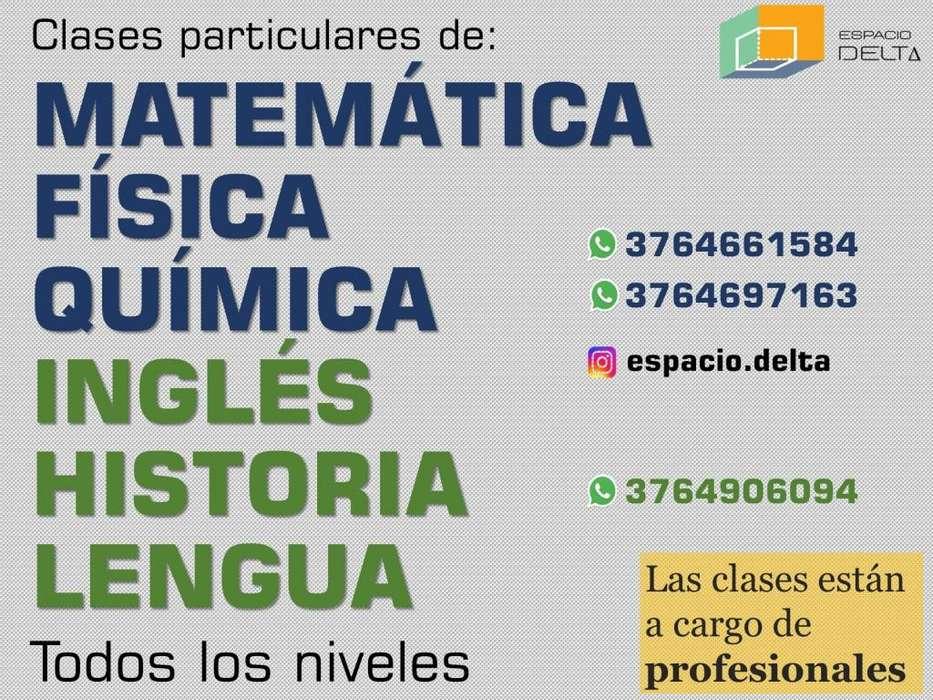 Clases particulares de Matemática, Física, Química, Inglés, Historia, Lengua y Literatura. Todos los niveles.