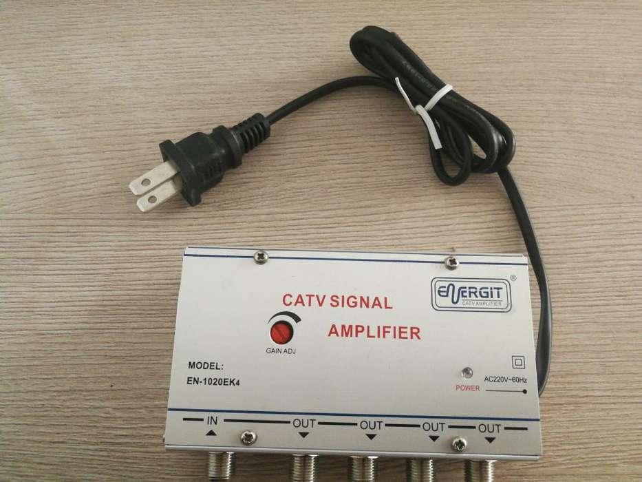 Amplificador de Señal de Cable 4 Salidas