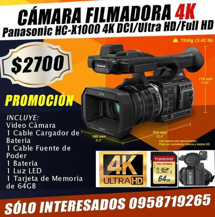 CAMARA PROFESIONAL PANASONIC 4K