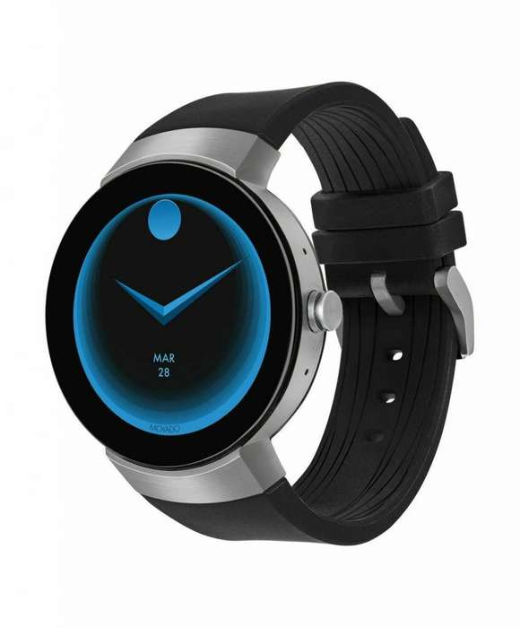 RELOJ HOMBRE SMARTWATCH Movado Unisex <strong>swiss</strong> Connect Black Silicone Strap Smart Watch 46.5mm 3660016