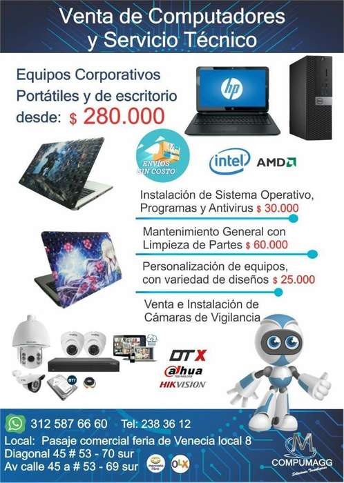 Computadores desde 280.000
