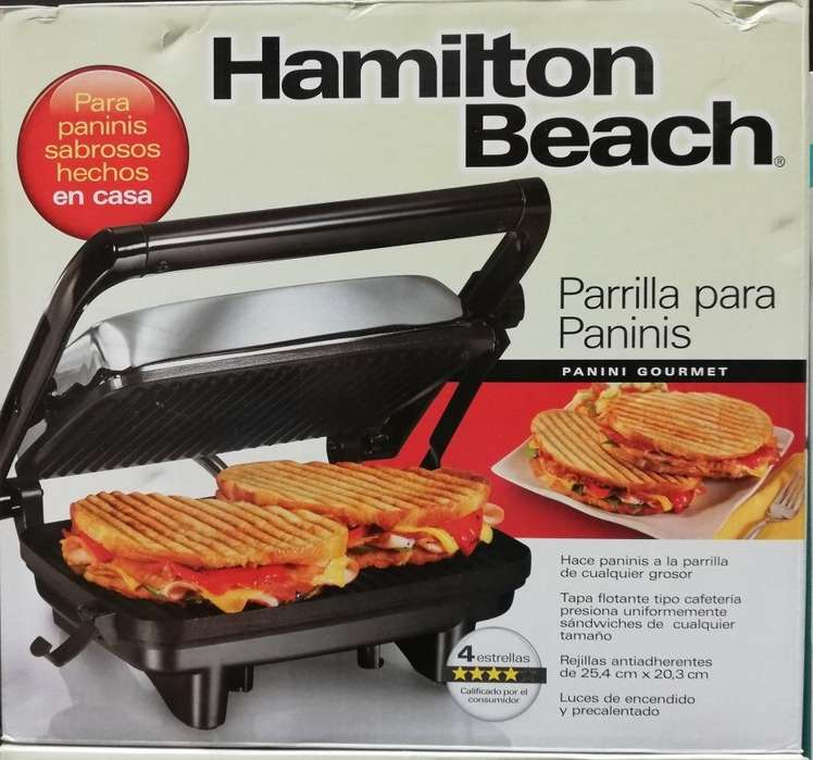 HAMILTON BEACH MAQUINA PARA PANINI 25.4CM x 20.3CM