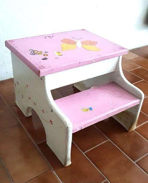 Banquito Escalera Infantil Escalón Niña Baño Dormitorio