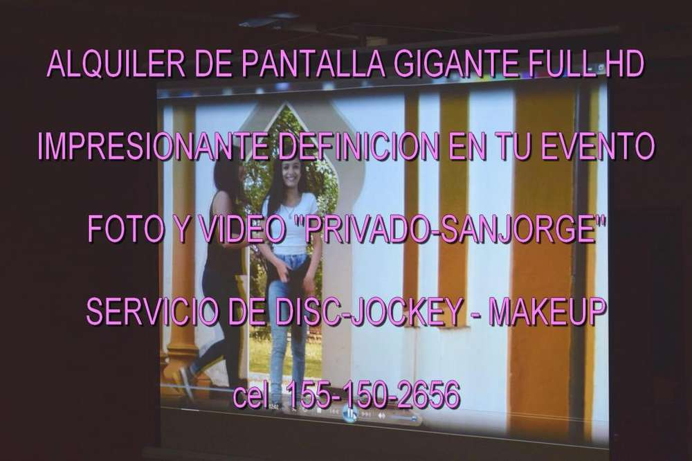 Alquiler Pantalla Gigante Quilmes199 100emotdisc Jockey Dj