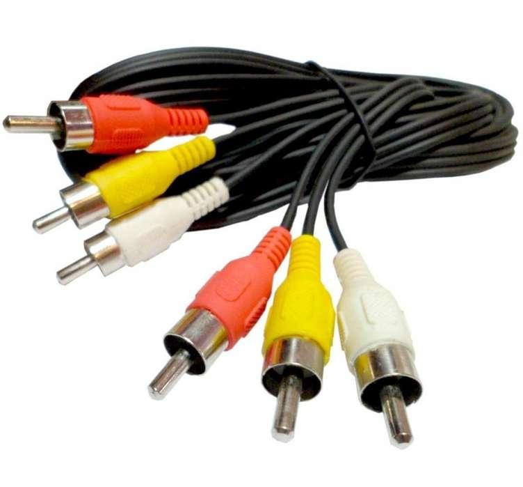 Cable Video 3 a 3 Rca 1,8 metros ¡¡PROMOCION¡¡