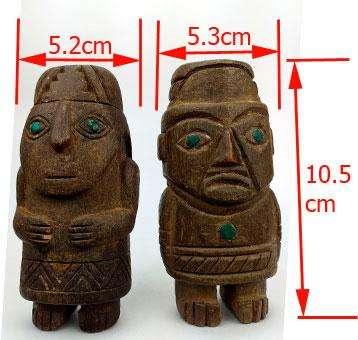Pareja De Pachamamas Incas, Antigüedades, Replicas