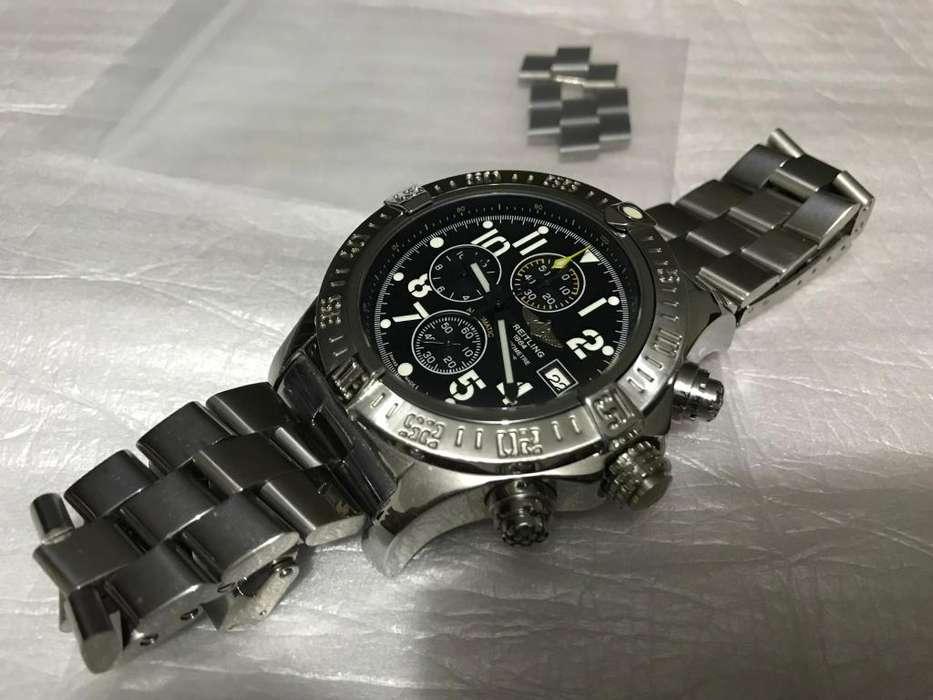 Reloj Breitling Super Avenger Chrono Profesional 12 Horas 30 Minutos 60 Segundos Ocasion