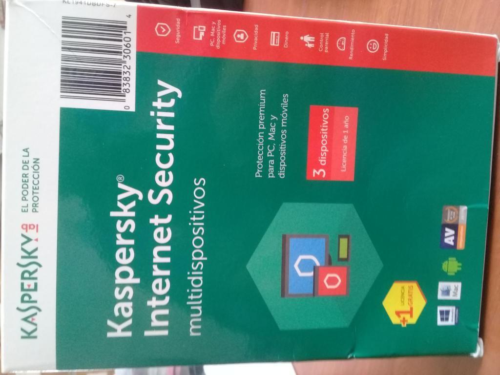 Antivirus licencia.