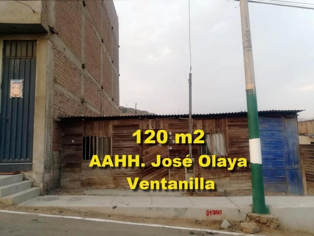 VENDO TERRENO DE 120 M2 EN AAHH OLAYA EN VENTANILLA  CALLAO
