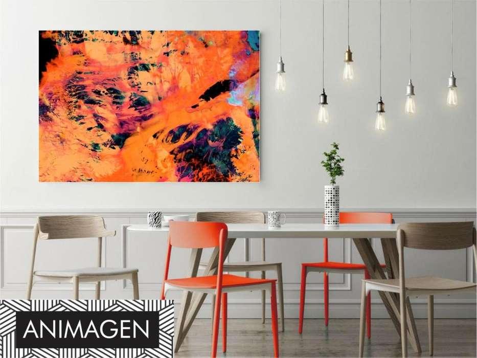 Cuadros decorativos tonos naranjas 2495