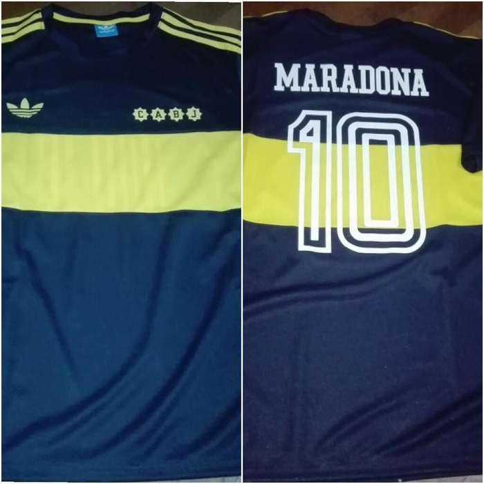 Camiseta Boca Retro 81 Maradona
