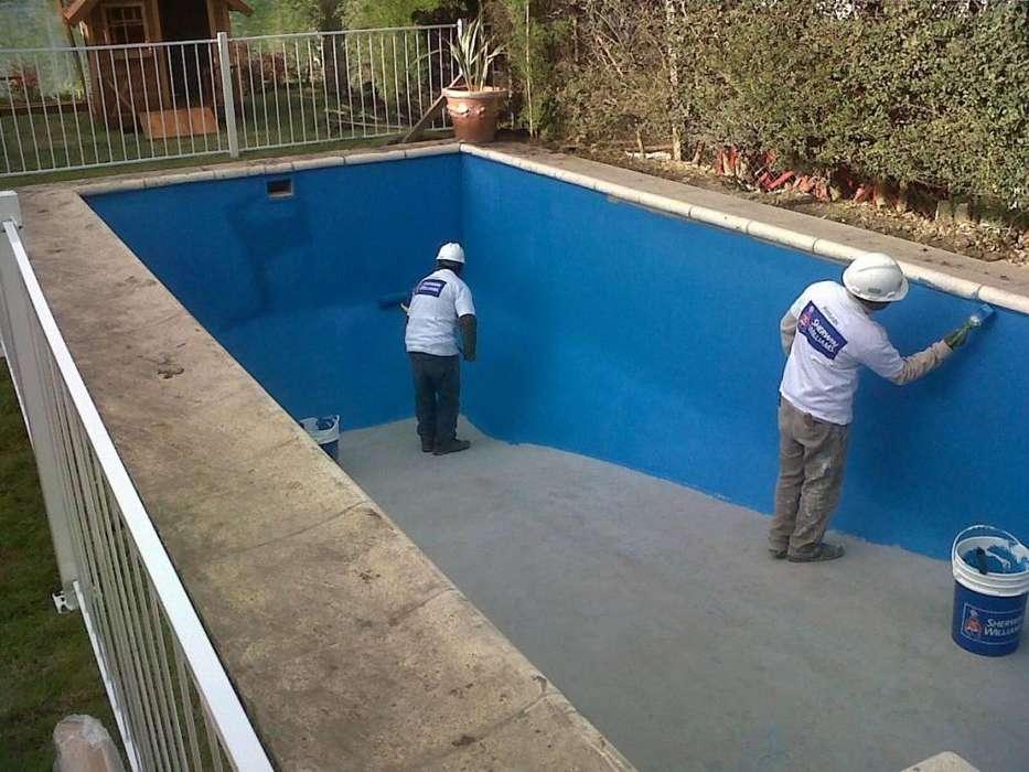 Pintura y limpieza de piletas y <strong>piscina</strong>s trabajo profesional
