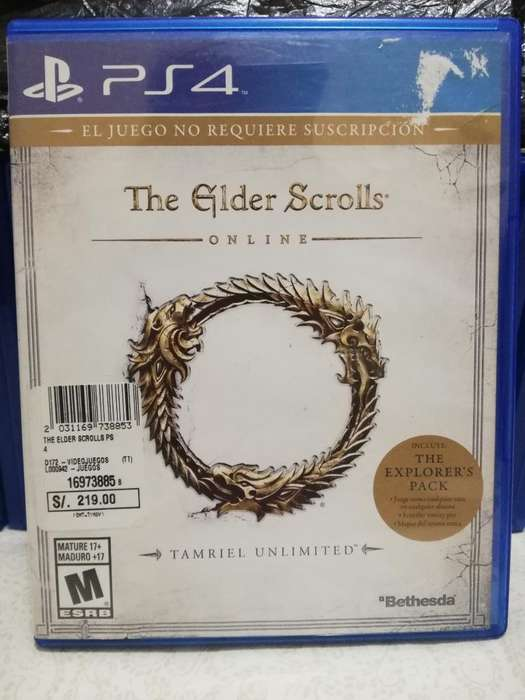 Juego Ps4 The Elder Scroll con Código