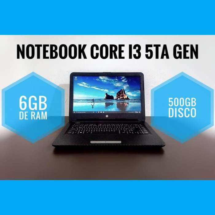 PORTÁTIL CORE I3 5TA GEN 6GB DE RAM 500GB DD QUADCORE