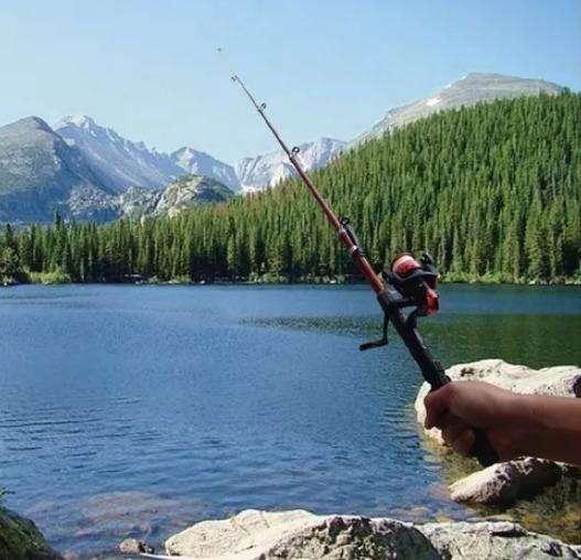 Vara de pescar, caña de pesca, camping, 2.10 cm nailon anzuelos