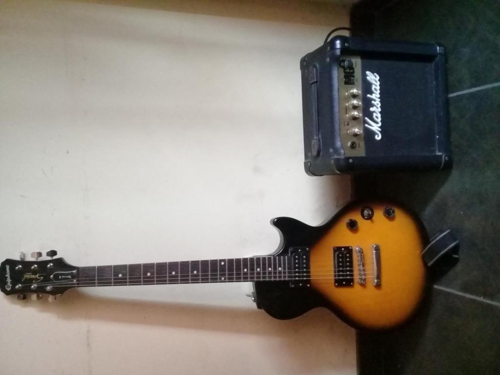 Guitarra Epiphone Les Paul Special II Amplificador Marshall MG10