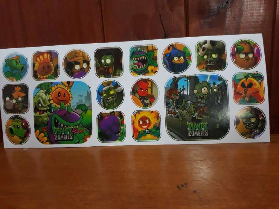 Stickers de Platas Vs Zombies X 10