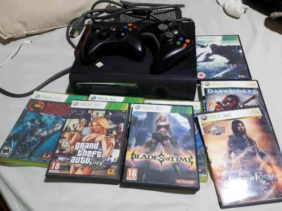 Vendo Xbox 360 Chipiado con 35 Juegos