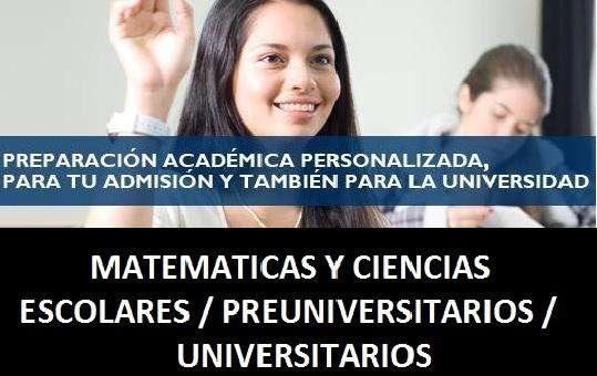 Asesoría a Domicilio Matemática y Ciencias Personalizadas para CEPREPUC CATOLICA PREPACIFICO PRELIMA PREUPC PRECAYETAN