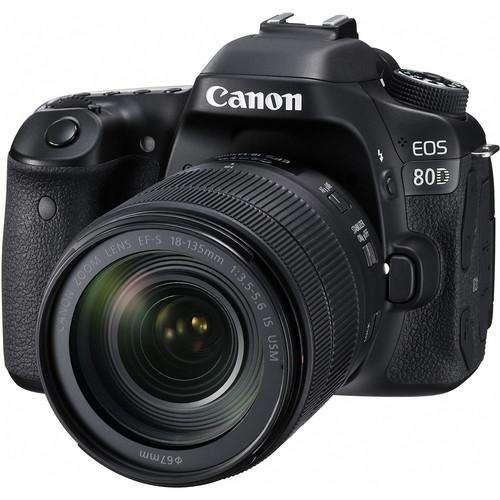 Cámara Canon 80d, 24.2mpx, Full Hd, Lente 18 135mm.