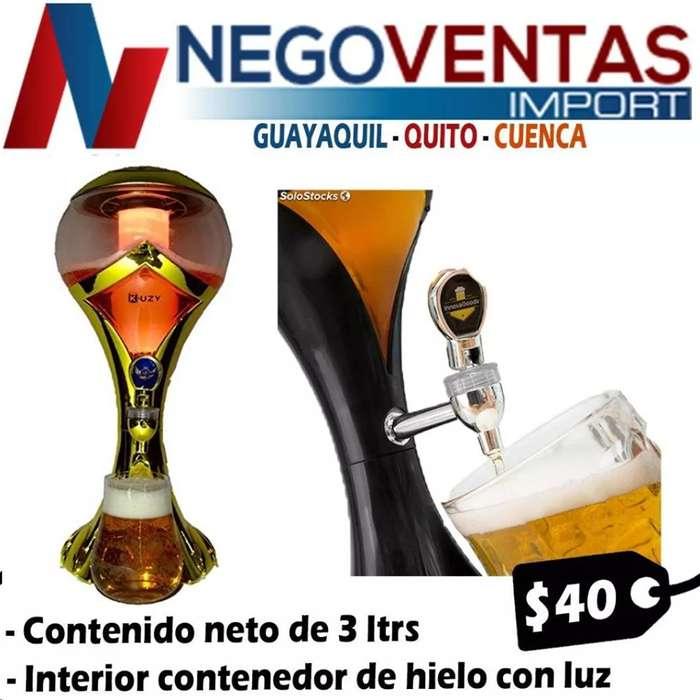DISPENSADOR DE CERBEZA TIPO COPA MUNDIAL DE 3L CON REFRIGERANTE Y LUCES LED