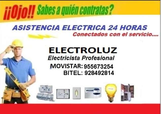 ELECTROLUZ: TECNICOS ELECTRICISTAS A1 LAS 24 HORAS DEL DIA