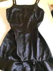 Camisolin D Raso Negro Talle S