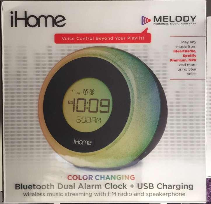 Ihome Reloj,Speaker Cargador Bluetooth