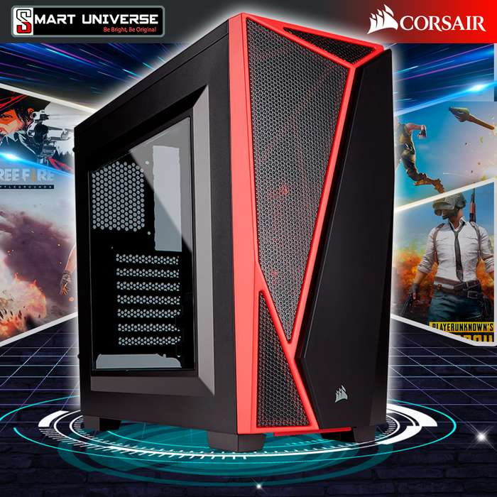 Case Gamer Corsair Spec-04 Semitorre Atx Tapa Traslucida Led