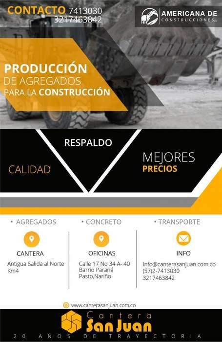 VENTA DE AGREGADOS PARA LA CONSTRUCCIÓN PASTO