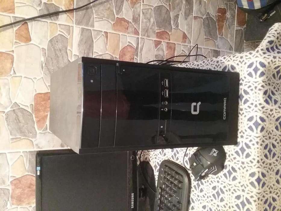 Vendo torre compaq amd E-1500 Ram 4 gigas DDR3