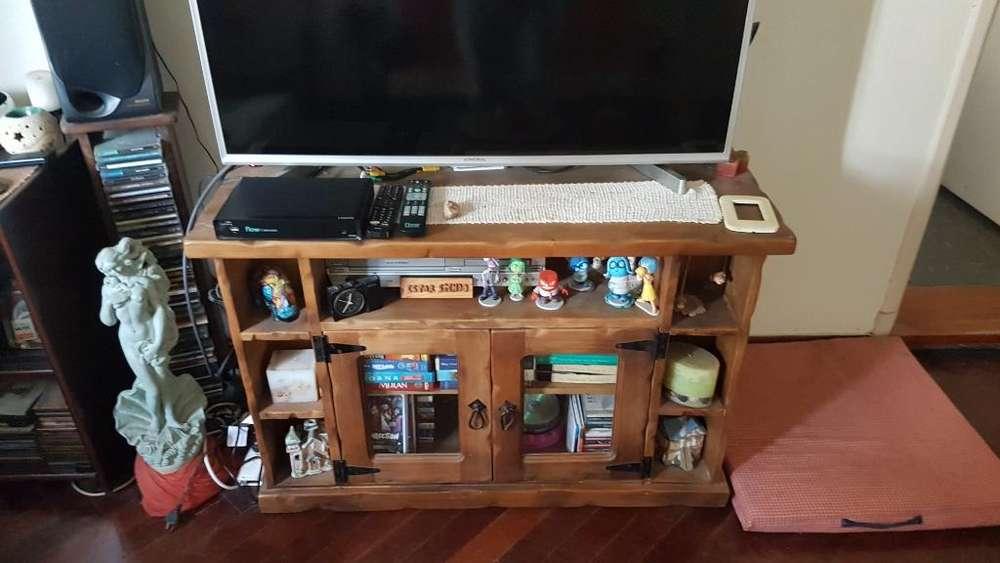 Mueble Televisor Madera Rustico