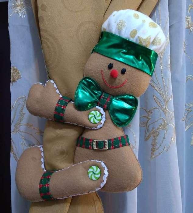 Cortineros navideños varios modelos, muñecos, cojines