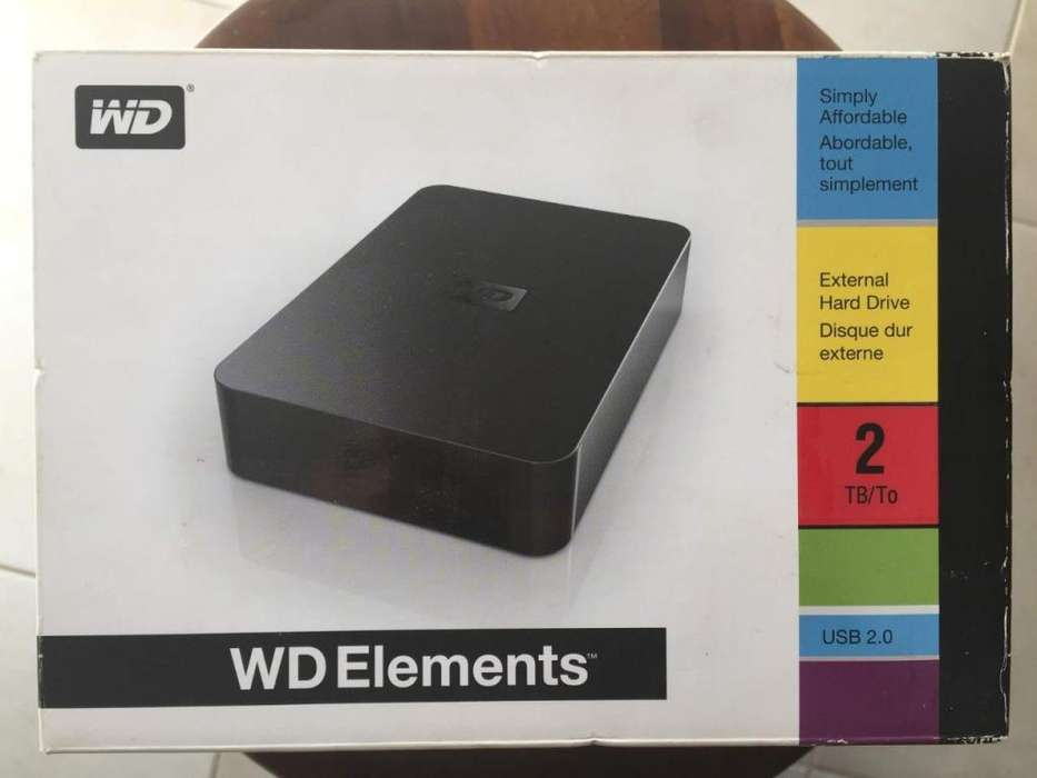 Disco Externo Portable Wd Elements 2tb Usb 2.0