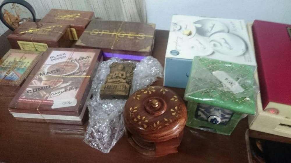 cajas de te de la india y especias de madera