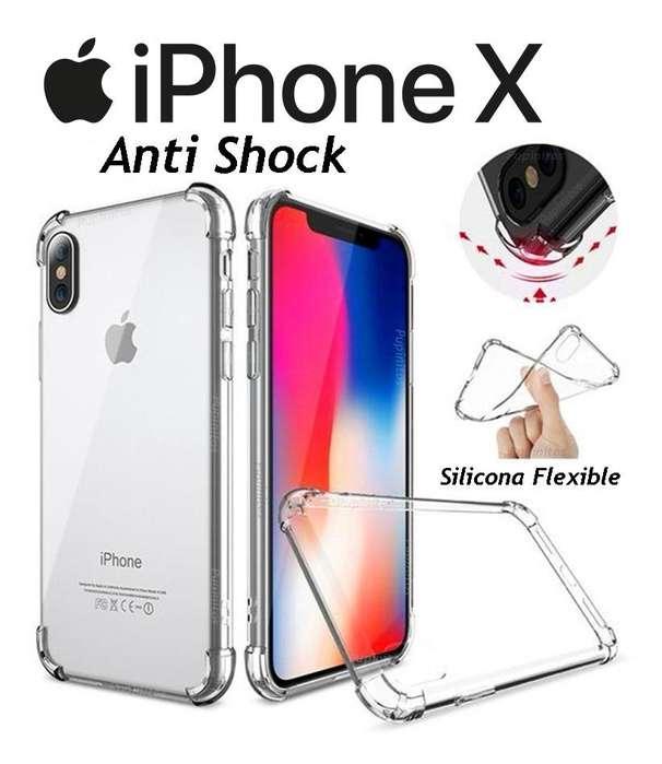 Funda Tpu Cover Silicona Anti Shock Iphone X Ten 10 Rosario