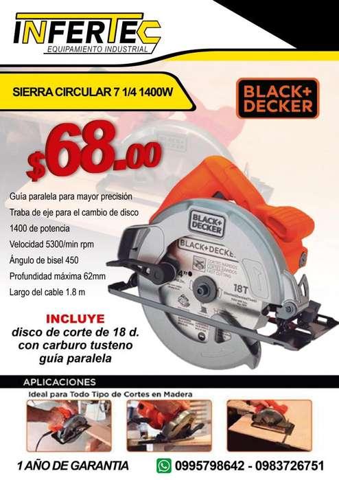 Sierra circular 7 1/4 1400w