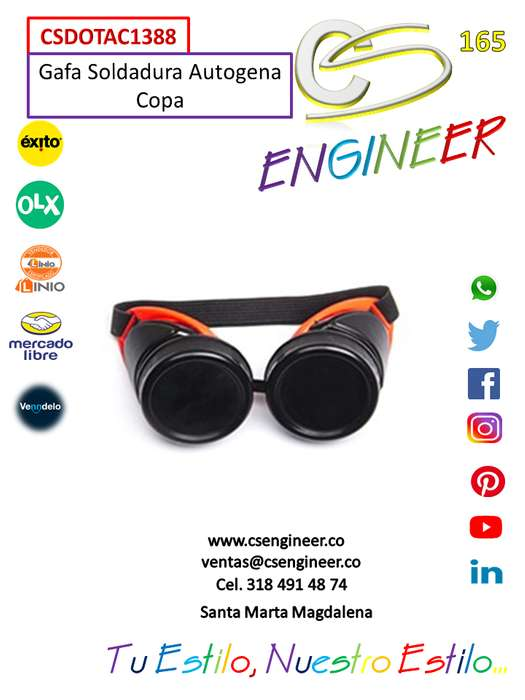 CS ENGINEER - Gafas Soldadura Autogena Copa