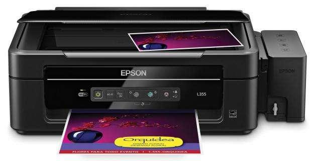 Multifuncional Epson L355 , Impresora Wifi, Copiadora y Escáner, con sistema de Tanque de Tinta.