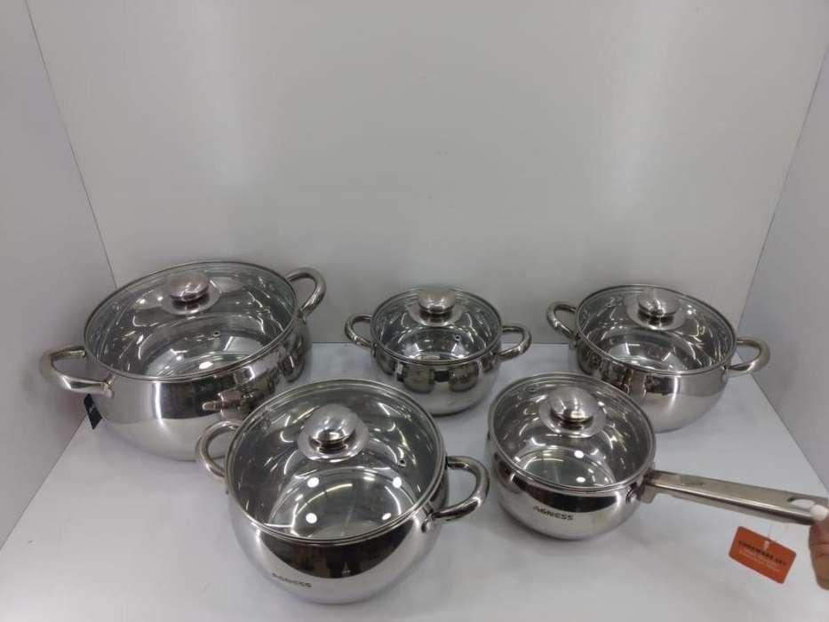 Set de ollas de acero inoxidable - alemanas