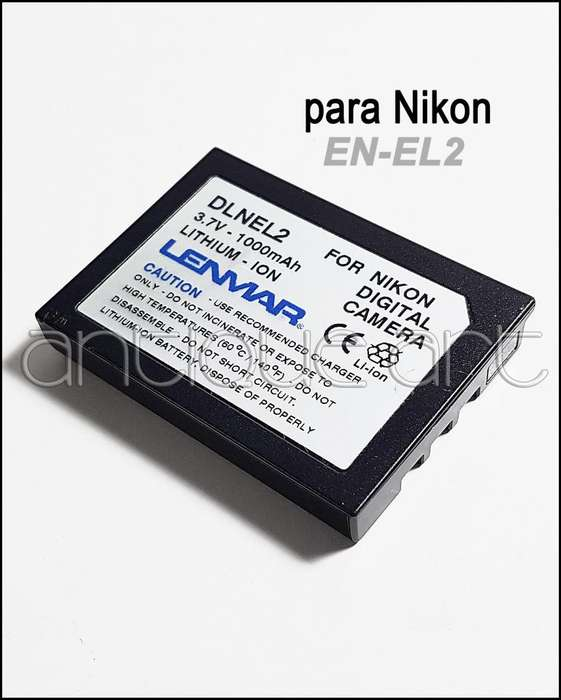 A64 Bateria En El2 Nikon Coolpix Digital 2500 3500 Sq500