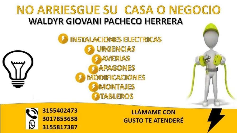 SE OFRECEN SERVICIOS ELECTRICOS