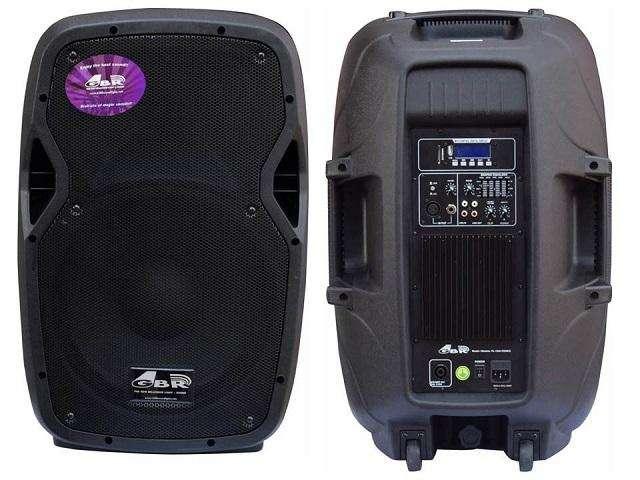 Bafle Potenciado 15 500w Gbr 1540 Pro Mp3 Activo Oferta !!!