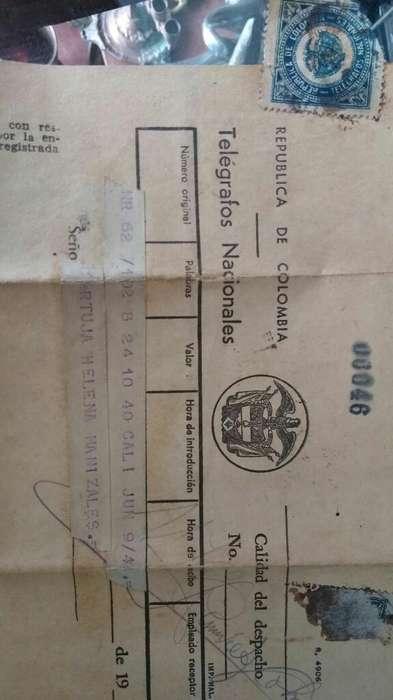 Telégrafo Enviado.en 1945