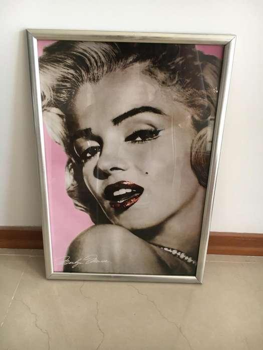 Cuadro Marilyn Monroe con Marco Y Vidrio