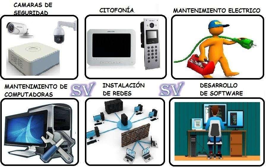 Camaras de seguridad, alarmas, cableado estructurado, video portero, citofonia, desarrollo de software, electricidad
