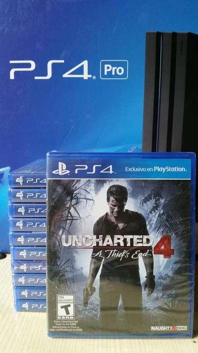 Uncharted 4 Ps4 Nuevo Y Sellado Stock
